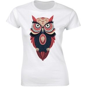 Funny Adorable Owl Staring Owl Lovers T-shirt Tee